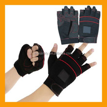 Professional Mechanics Safety Work Leather Fingerless Gloves with Neoprene Knuckle Protection
