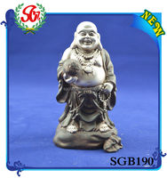 SGB190 Stand And Laugh Pose Burmese Antiques Buddha