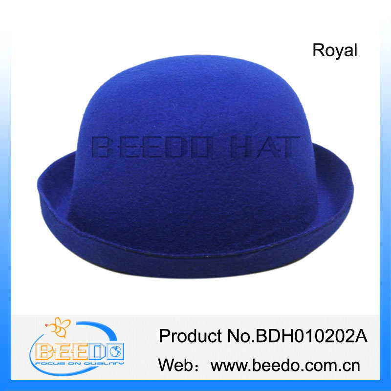 Beauty polyester blue bob bucket bowler hat
