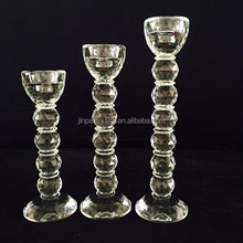 Single Beaded Crystal Candle Holder Tea Light Holders for Table Wedding Decor