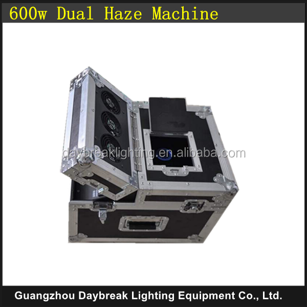 DJ No Warm up time stage 600w dual haze machine with Flycase / flight case , Dual hazer DMX / Remote Control