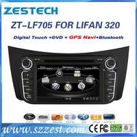 2 din Car dvd player 256 MB RAM with Radio bluetooth USB steering wheel, for Lifan 320/