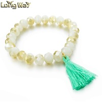New Arrival Fashion Jewelry Crystal Beaded Stretch Bracelet For Girls