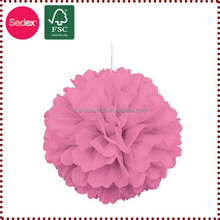chart paper decoration paper flower pompom for party