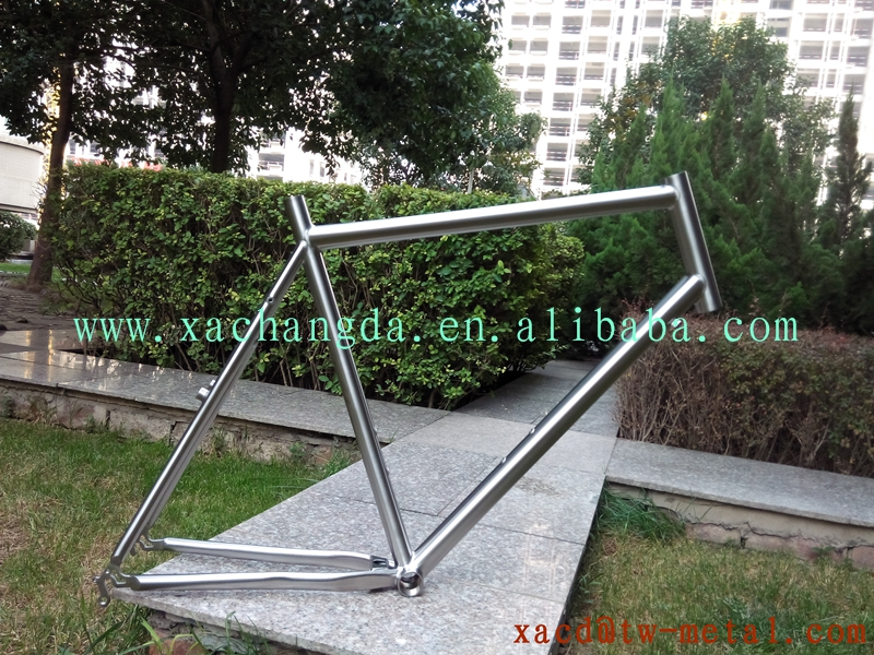 "xacd made titaniium MTB bike frame with kickstand mount 18"" mountain bike frame with 29er"