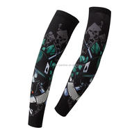 sublimation factory custom compression sleeve, sport uv protective compression arm sleeve