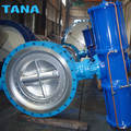 Pneumatic actuated carbon steel wcb triple offset butterfly valve