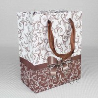 Recycled custom brown shopping paper bags with your own logo