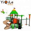 Latest design slides for kids plastic outdoor playground equipment from china supplier