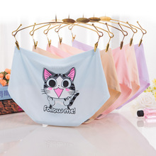Soft Meow Intimates Fashion 3D Printed Cat Underwear Sexy Female Breathable girls wearing silk panties For Girls Gifts