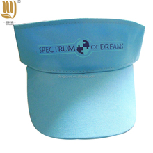 Blue Sun Hat Custom Logo Printed Golf Hat Wholesaler Promotional Visor Hats