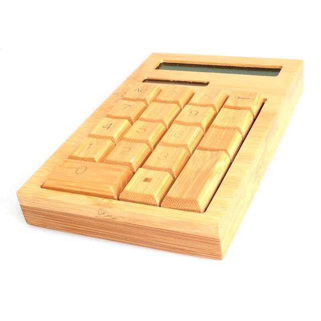 Best Eco-friendly custom wholesale mini bamboo scientific solar calculator