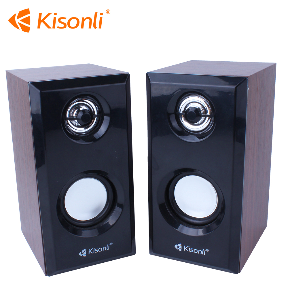 Professional USB 2.0 Mini Audio Multimedia Dual Channel Computer Speakers Wooden Sound Box