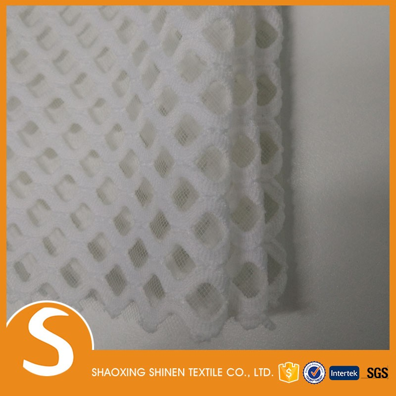100% poly wholesale mesh sandwich knit fabric for garment