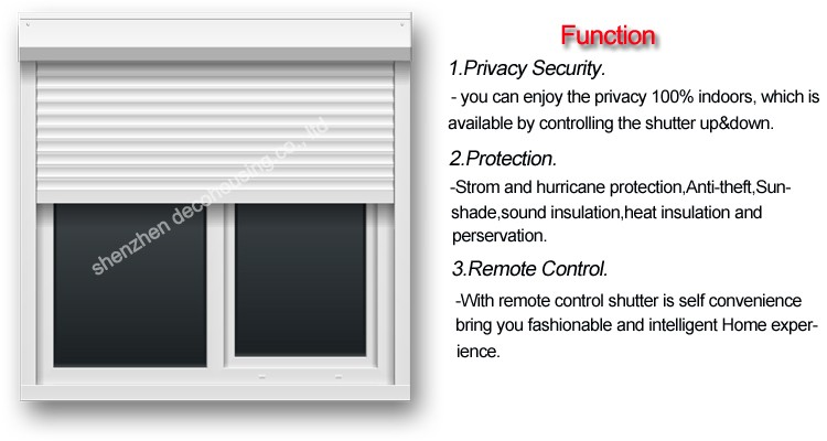 Rolling Shutter Type Manual Automatic Operation Aluminum