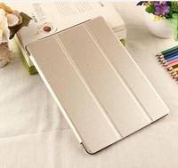 Factory Supply Ultra Slim Smart Pad Case Silk Pattern Transparent Piece Case For Ipad 6/ Ipad Air 2