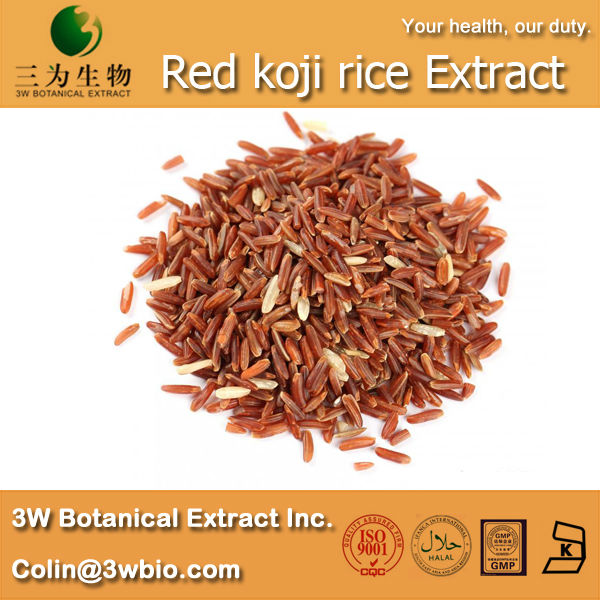 3W supply Red koji rice Extract Powder ( 100% Natural and Healthy )