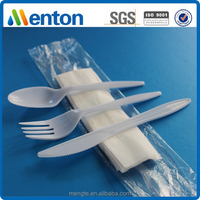 2016 popular cheap disposable plastic cutlery set 4 in 1