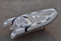 China Liya rib 380 small frp inflatable boat with center console