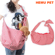 2017 hemu reversible outdoor travel bag with metal loop collar hook for small cats dogs pet sling carrier