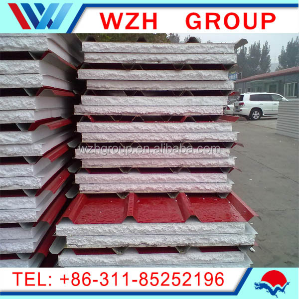 fireproof sound insulation construction material pu sandwich panels composite insulated roof panel from china supplier