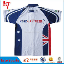 Polo Collar Sublimation Motorcycle Jersey Custom /Motor Racing Sports Wear