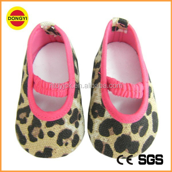 leopard patterns canvas shoes SD doll shoes