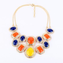 Sweet Imitation Gemstone Chain Epoxy Resin Jewelry Wholesale Bubble Necklace