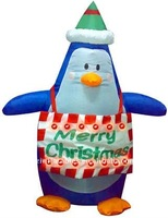 QI Ling lovely inflatable cartoon penguin for kids