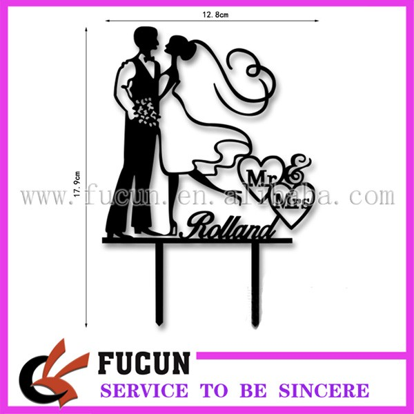 Bride and groom Mr and Mrs acrylic cake stand topper for wedding decoration.jpg