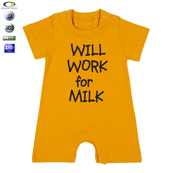 Custom Branded Baby Clothes Romper Baby Boy Clothes Clothing