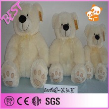 pure white teddy bear with movable arms and legs