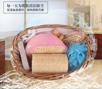 Promotional bathroom accessories willow basket bath set