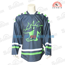 Sublimate print polyester ice hockey shirts High Quality Ice hockey wear manufacturer sale custom ice hockey jersey