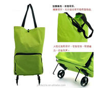 MOQ 1pcs wholesale polyester pp non woven jute canvas nylon recycle reusable trolley foldable shopping bag
