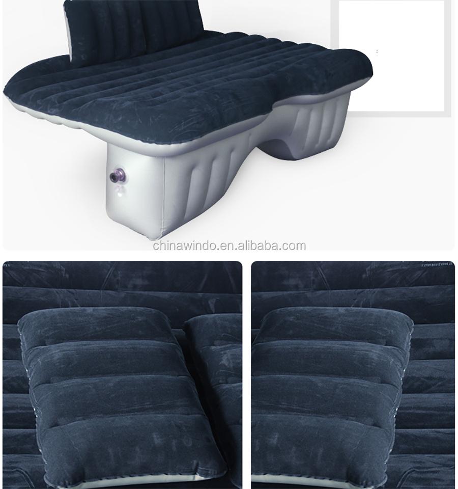 Inflatable Car air bed inflatable car air mattress grey color