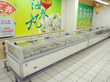 display freezer of chest single type for frozen chicken sale