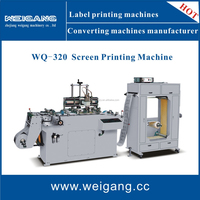 WQ-320 Automatic multicolor label silk screen printing machine / screen printer