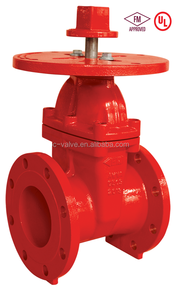 "2-12"" NRS Flanged Gate Valve with FM UL"