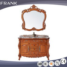 Solid wood new Chinese model 26 inch bathroom furniture antique cabinet with top