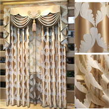New product popular jacquard soft curtains types of luxurious curtain with valances