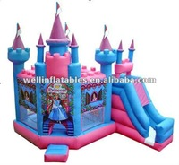 inflatable princess bouncy house for kids