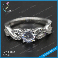 Fashion value 925 sterling silver ring with shining cz stone