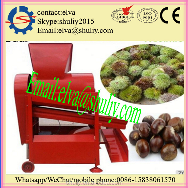 High quality chestnut thorn shell removing peeler machine