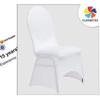 Wholesale White Polyester/Spandex Stretch Arch Style Wedding Chair Cover