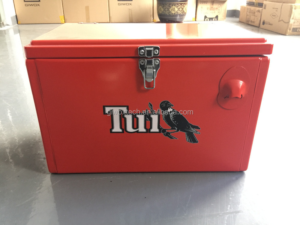 Retro Metal Beer Cooler metal ice chest Gift Box