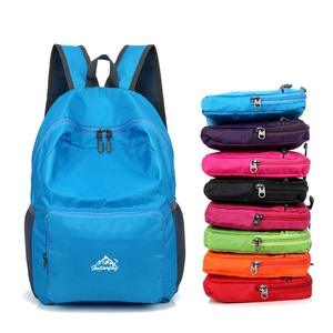 outdoor sport gym foldable back pack ultralight waterproof travel folding hiking backpack