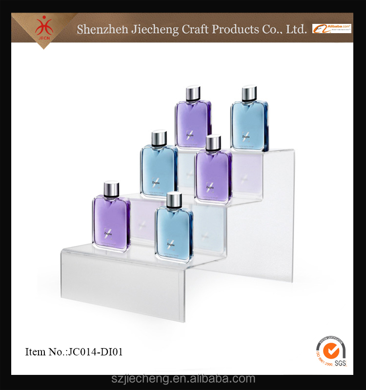 Jiecheng high quality new acrylic mankeup mac cosmetic display pedestals