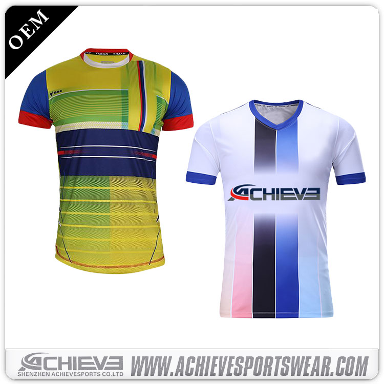 High quality fashion cheap football jerseys reversible jerseys sublimation