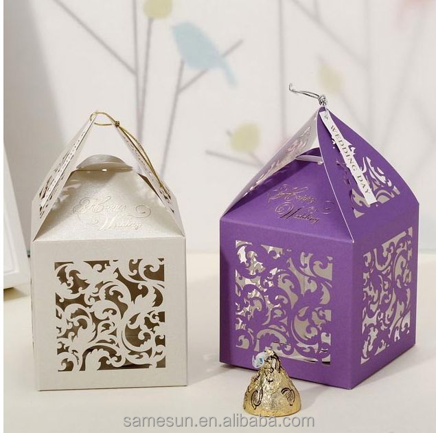 2016 decorative wedding cardboard candy boxes with high quanlity